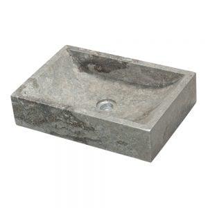 Marmoriallas Quadrato Grigio Hulppea, harmaa marmoriallas sopii ajattoman muotoilunsa vuoksi useimpiin kylpyhuoneisiin. Allas on valmistettu harmaasta, kiillotetusta marmorista, jossa esiintyy myös hieman tummempia sävyjä. Mitat: 35x50x12 cm. Paino noin 30 kg.