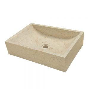 Marmoriallas Quadrato Beige. Huikea, beige marmoriallas sopii ajattoman muotoilunsa vuoksi useimpiin kylpyhuoneisiin. Allas on valmistettu beigestä, kiillotetusta marmorista, jossa esiintyy sille luontaisia, upeita juovia.