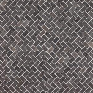 Herringbone Grey Mini marmorimosaiikki