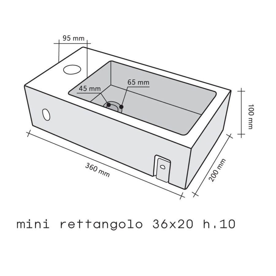 IMSO Mini Rettangolo Basalto Nero