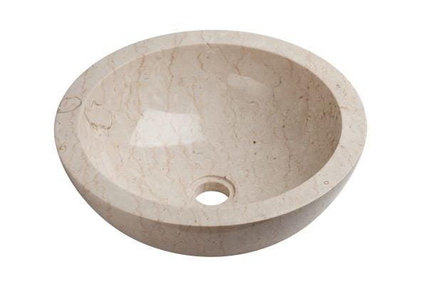 Round Cream marmoriallas