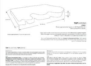 Top Sarong- puutason tekniset tiedot